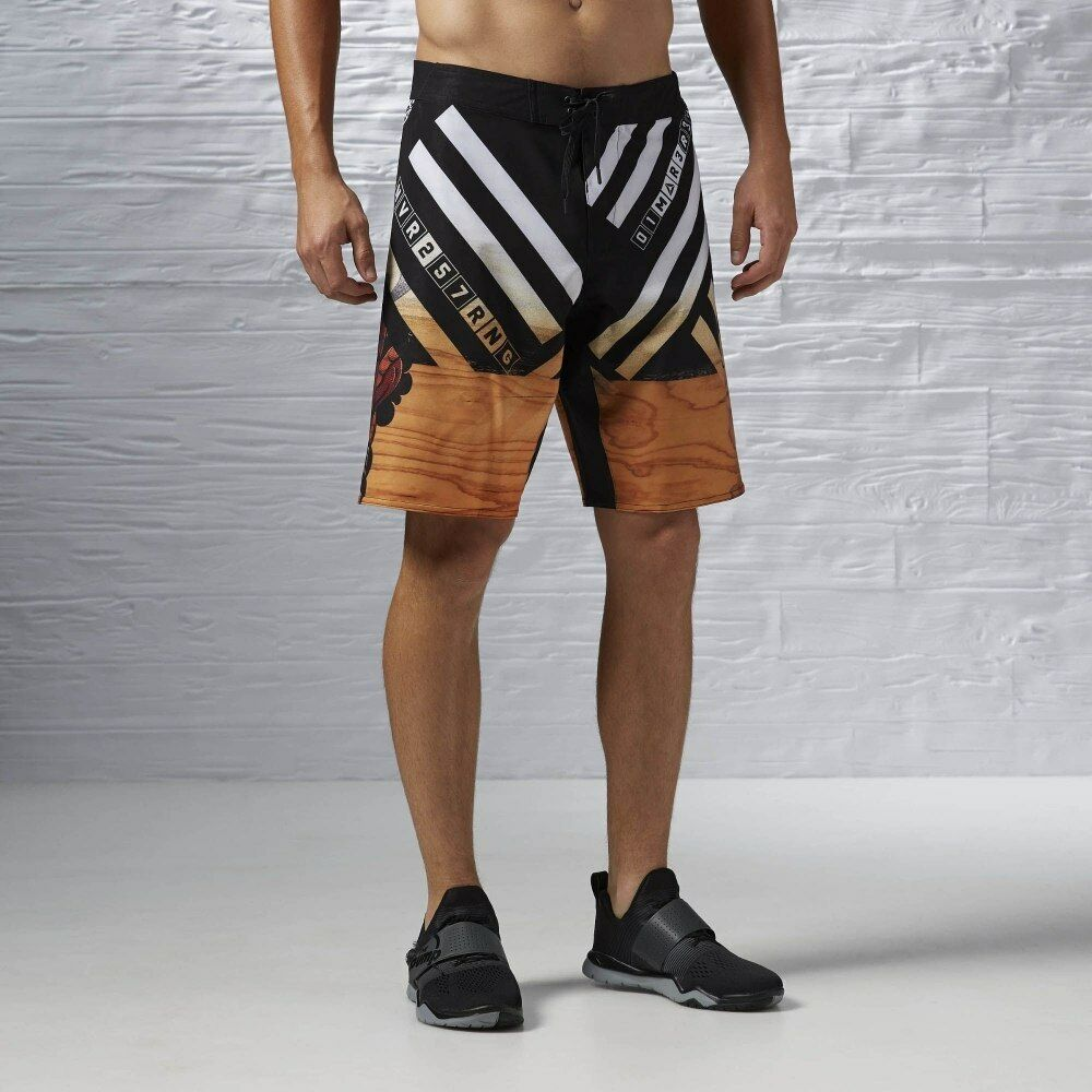 NEW Reebok Men's One Series Power Nasty Timber Training CrossFit Elite Shorts L