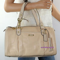 NWT Coach Avery Croc Embossed Leather Large Satchel Bag F26123 Stone NEW RARE