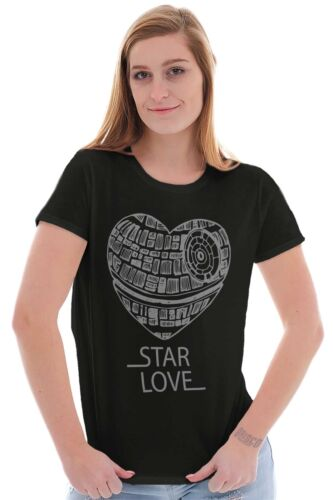 Space Love Galaxy Nerdy Valentines Day Movie Womens Tees Shirts Ladies Tshirts