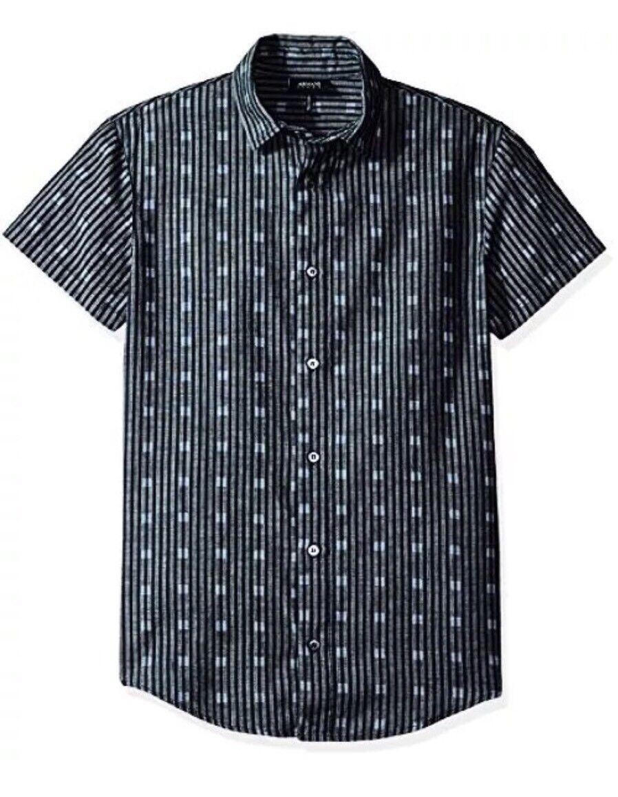 Armani Jeans Style 3Y6C25  Riga  blue Shirt  XLarge  Slim Fit