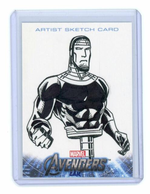 2012 Upper Deck Avengers Assemble Machine Man Sketch Card by Lak Lim