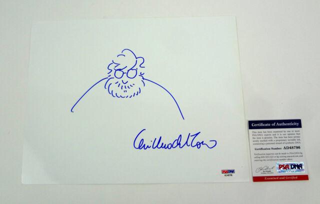 Guillermo Del Toro The Shape of Water Signed Autograph Self Sketch PSA/DNA COA