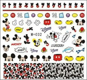 Nail-Art-Stickers-Water-Decals-Transfers-Mickey-Mouse-M-032