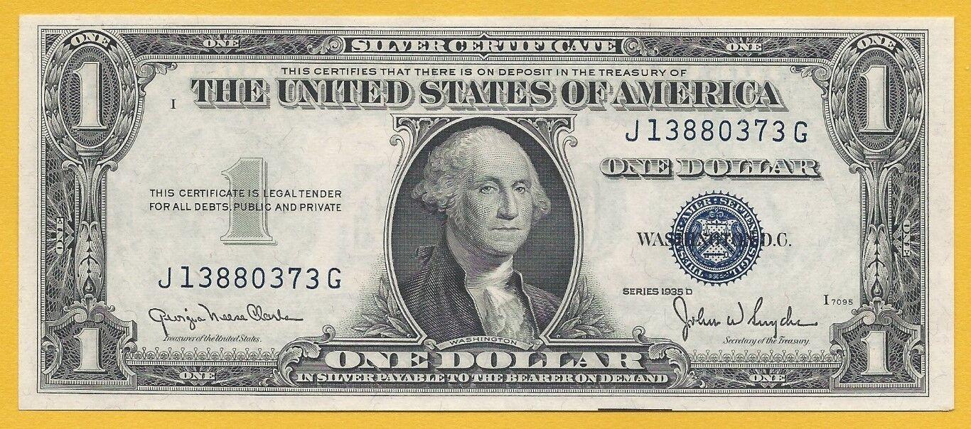 Paper money us 100 silver certificate 1935 d f 1613n clarkesnyder xflitez Choice Image