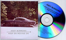ANDY BURROWS Keep On Moving On UK 2-trk promo test CD Razorlight radio edit