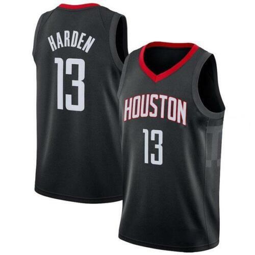 JAMES HARDEN 13 NBA BASKETBALL JERSEY HOUSTON ROCKETS BLACK SWINGMAN SHIRT