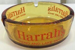 Vintage Harrahs Casino Hotels Ashtray.