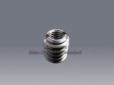 Einschraubmuttern M8 -M10 DIN 7965 Einschraubmuffe Gewindeeinsätze Schlitz Stahl