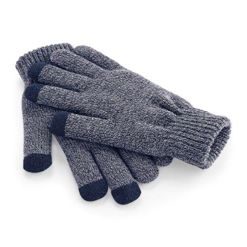 Warm Unisex Black Grey or Blue Touchscreen Smart Gloves