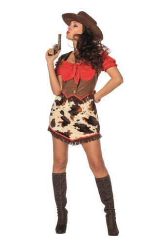 Cow Girl Kostüm Kleid Wilder Westen Saloon Saloongirl Lady Cowgirlkostüm Cowgirl