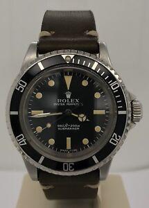 Details about Rolex Vintage Submariner No,Date Matte Feet First Dial Circa  1971 5513