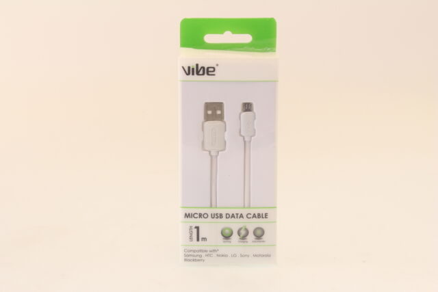 Vibe 11021 Compatible with Any Micro Charge and Sync USB Data Cable - White