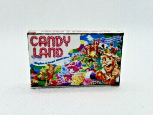 Miniature 1:12 scale classic CANDY LAND Board Game Dollhouse prop TOY BOX