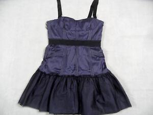 Sz da Bcbg Top Bi618 Purple Mini Corsage Abito Maxazria Mia Dress cocktail 12 L nwqYpFwzx