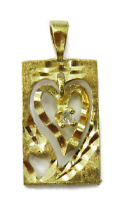 10K-Yellow-Gold-Double-Heart-with-Cubic-Zirconia-Charm-Necklace-Pendant-1-4g