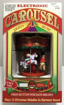 Vintage Battery Operated Musical Christmas Carousel with ...