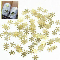 100pcs 3D Nail Art Metal Sticker Decoration Tool Gold Plated Snowflake Decal DIY