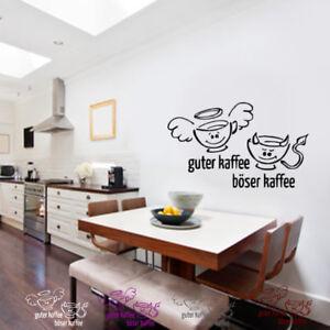 WANDTATTOO Küche GUTER KAFFEE,BÖSER KAFFEE ESSEN STICKER Wand ...