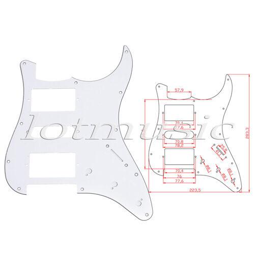 10 white guitar pickguards 3 ply hsh for fender strat