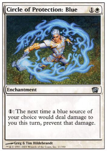 MTG NM 8th Edition *CCGHouse* Magic Circle of Protection: Blue X4