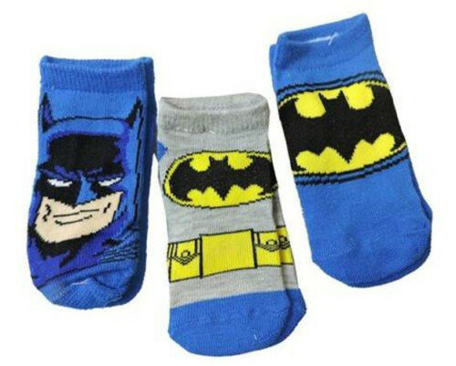 size 18-24 months Bruce Wayne New Batman Blue Kids 3 Pack Socks