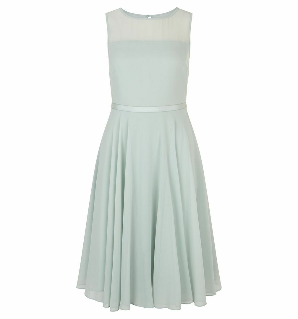 Hobbs Abigale Fit & Flare Soft Mint Dress. Various Sizes. RRP .