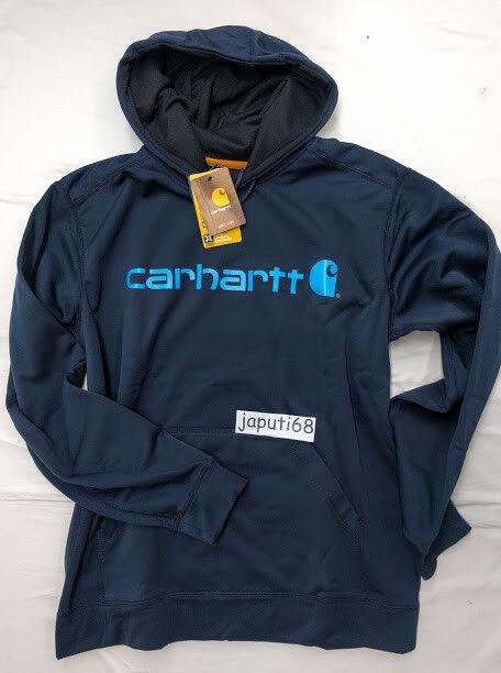 Carhartt Force Extreme Signature Graphic Sweatshirt Large NAVY