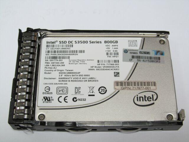 "HP S3500 800GB 2.5/"" SATA SSD Hard Drive 717977-001 717968-003 VK0800GDJYA G8 G9"