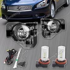 New for 2009-2014 Nissan Maxima Front Bumper Fog Light Lamp Driver L+R +LED