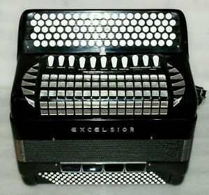 EXCELSIOR Professional Model Cassotto 120 bass B GRIFF Accordion Akkordeon Bayan
