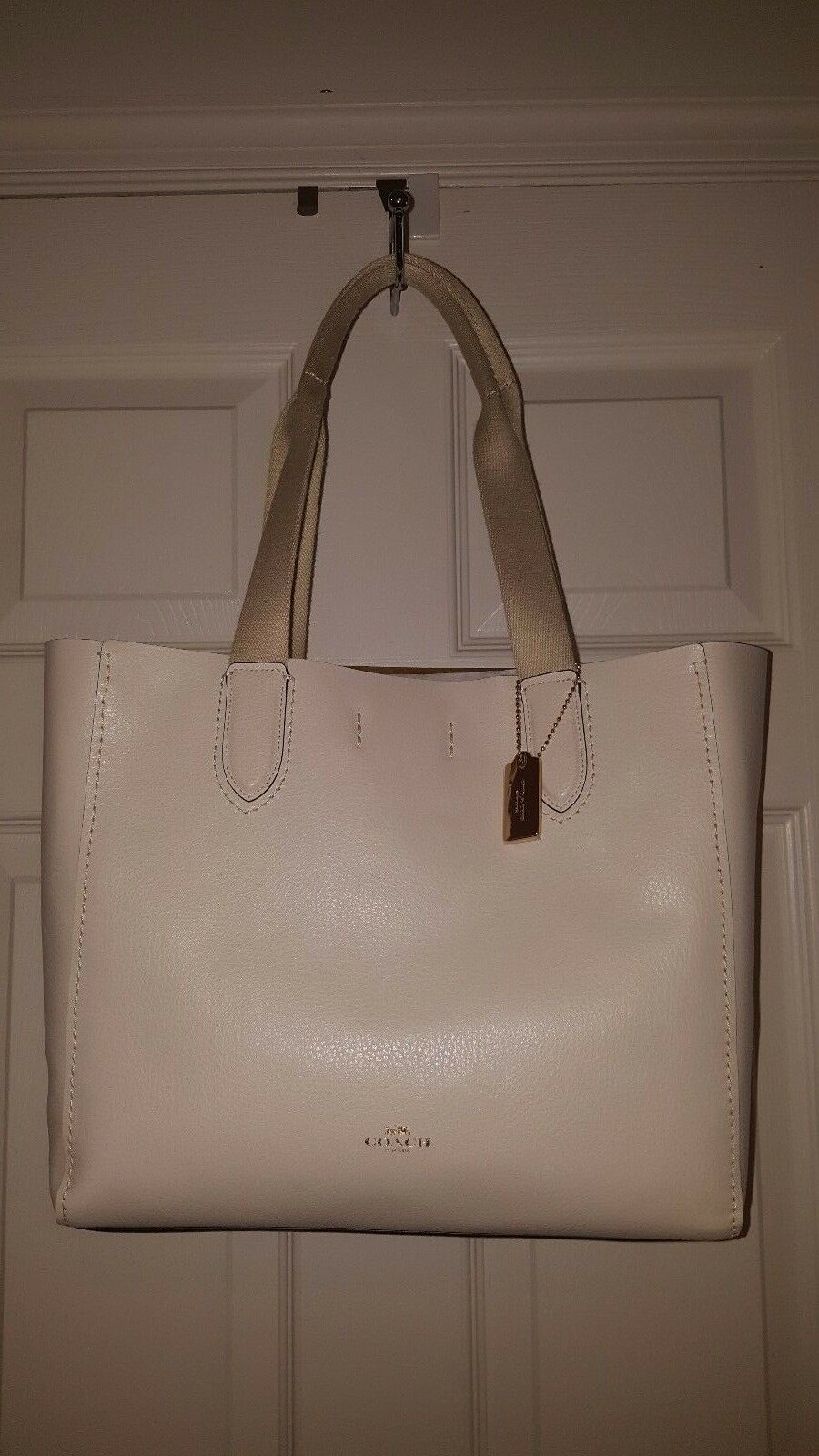 b1d4c29a553c Coach F58660 Derby Tote in Pebble Leather Chalk for sale online