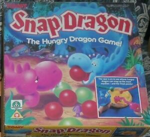 GIOCO-ANNI-80-VINTAGE-BOARDGAME-TOMY-SNAP-DRAGON-HUNGRY-GAME-DRAGHI-MANGIA-PALLE