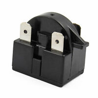 Plastic Housing 4.7 Ohm 3 Pins Refrigerator Ptc Starter Relay Black