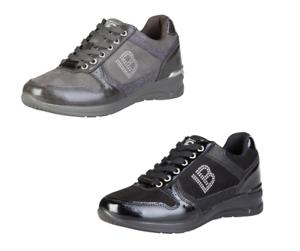 LAURA-BIAGIOTTI-Scarpe-donna-ginnastica-sneakers-stringate-basse-logo-glitter-DD