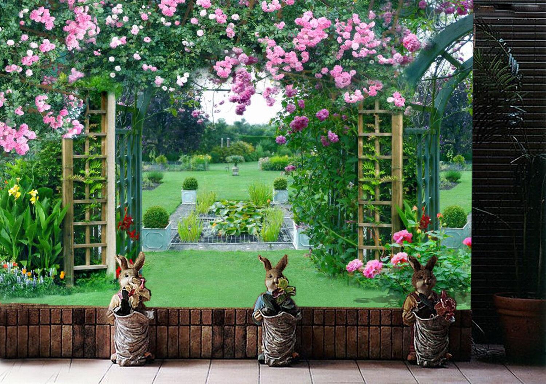 3D Garten Gras Natürlich 894 Tapete Wandgemälde Tapeten Bild Familie DE Lemon