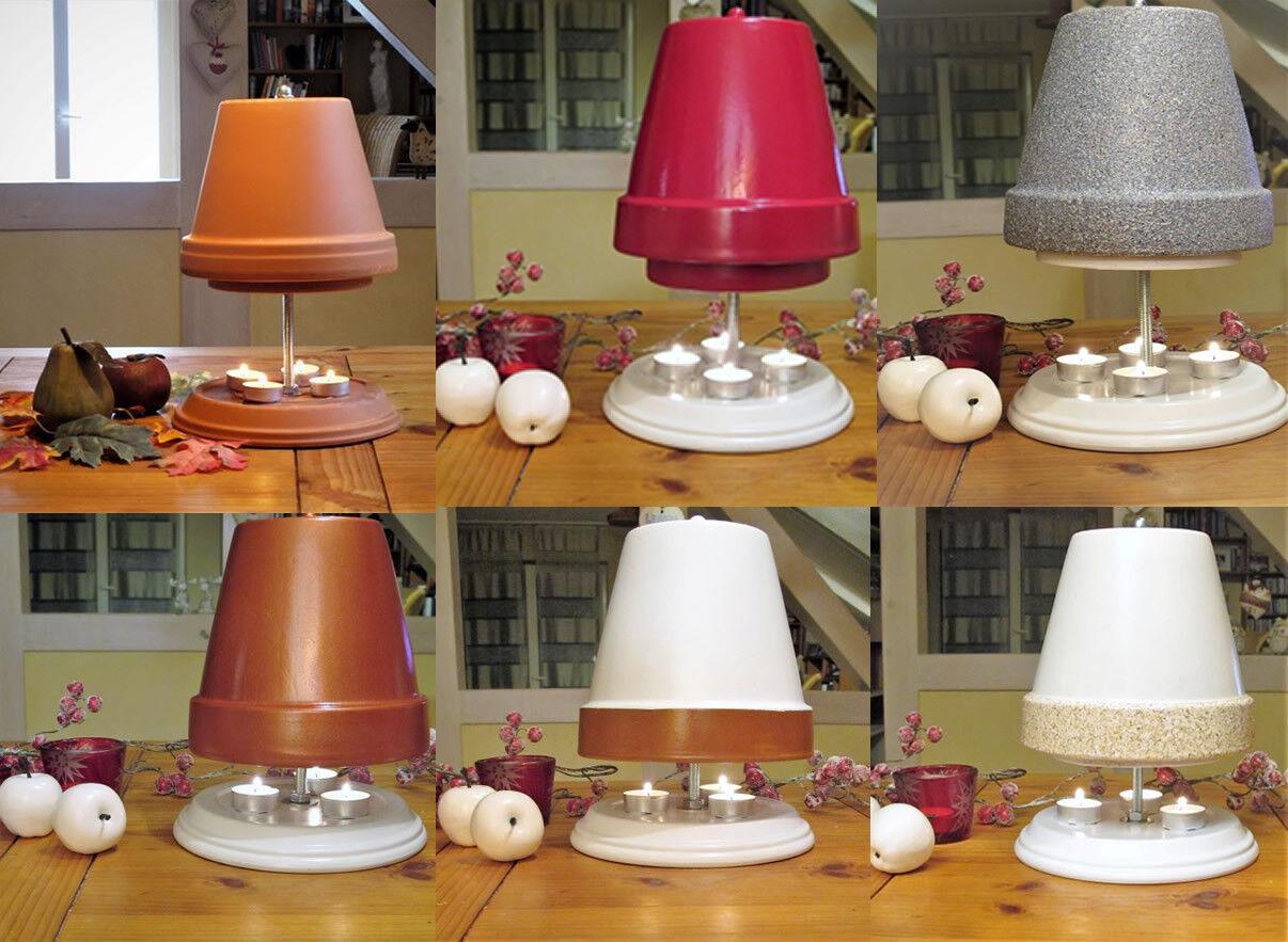 Teelichtofen velas horno teelichthalter-distintos modelos parcialmente pintada