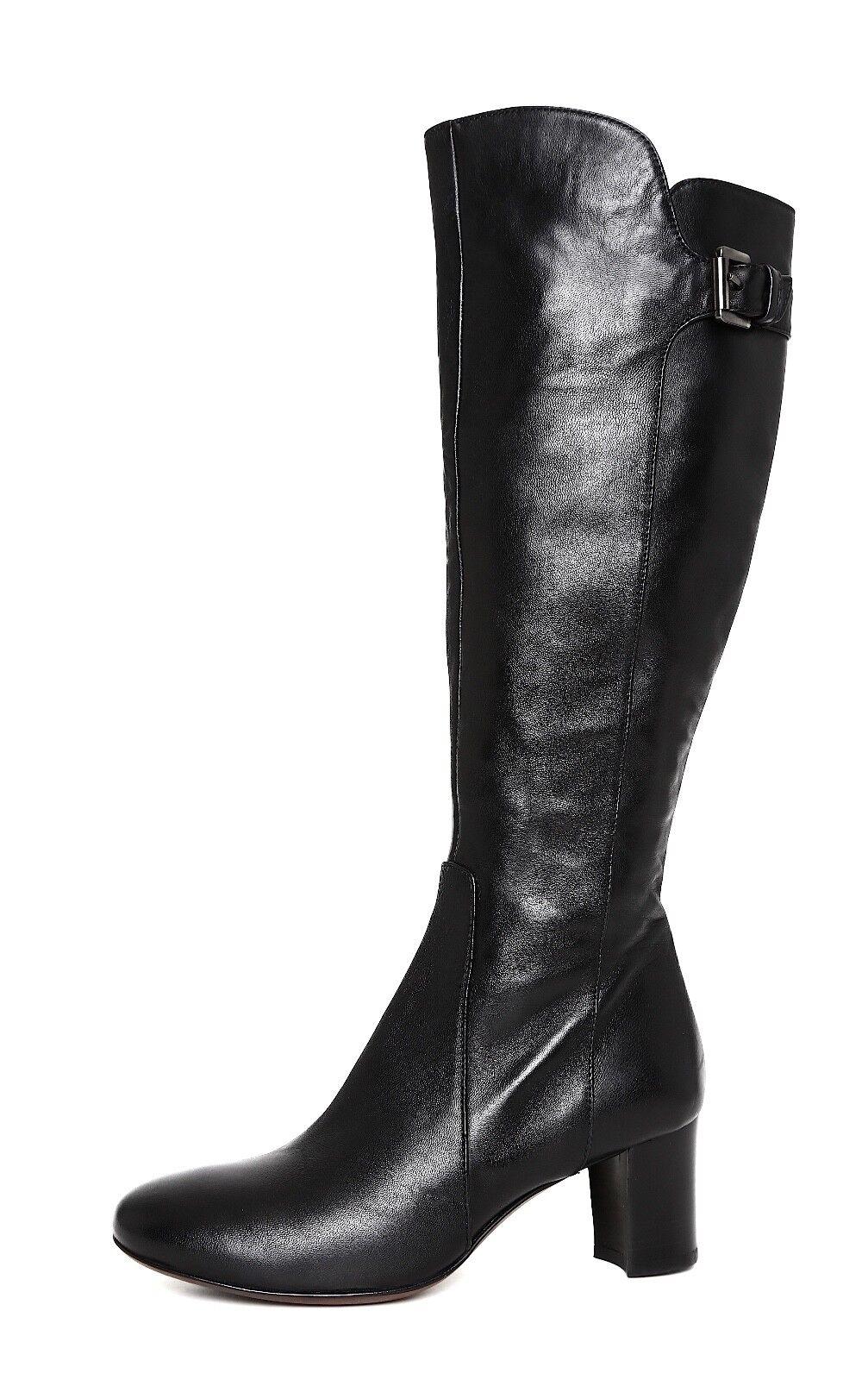 Attilio Giusti Leombruni Side Zip Leather Boot Black Women Sz 37 *