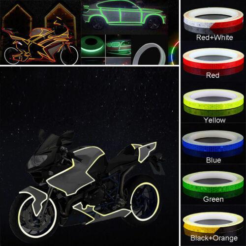 6 colors Motorcycle Rim Tape Reflective Wheel Stickers Decals Vinyl 1cm*5m NEW