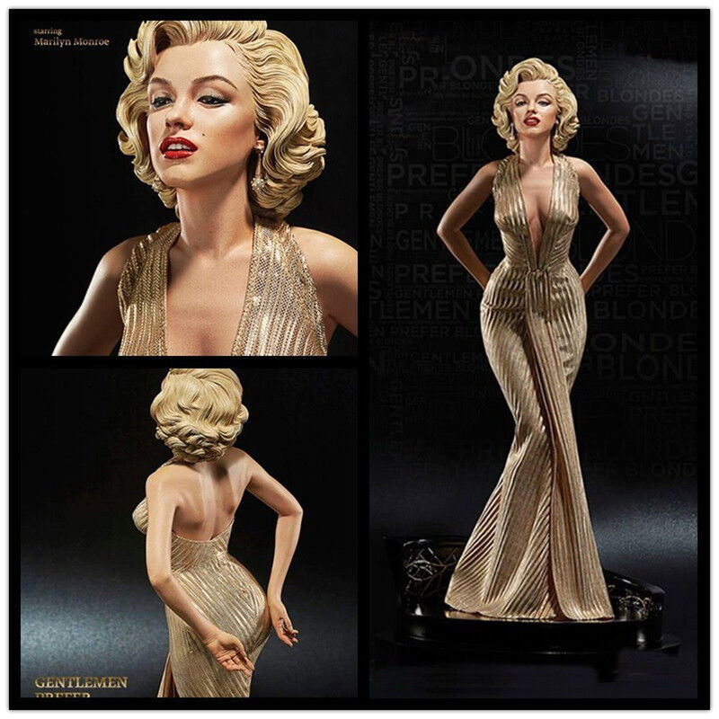 Los Caballeros las rubias prefieren Marilyn Monroe escala 1 4 Estatua Pvc Figura Modelo 16