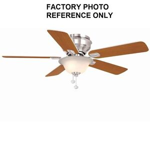 Hampton Bay Hawkins 44 In Brushed Nickel Ceiling Fan