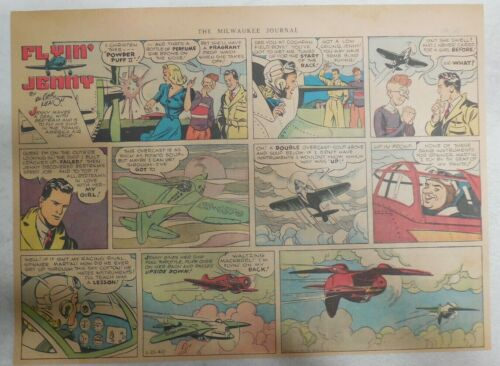11 x 15 inches Flying Jenny Sunday Page by Russell Keaton from 1//21//1940 Size