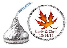 432 FALL WEDDING FAVORS HERSHEY KISS KISSES LABELS ~ MAPLE LEAF