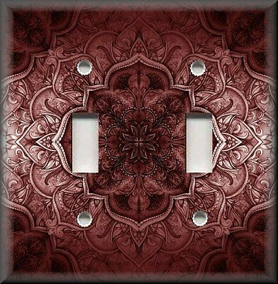 Switch Plate Cover - French Pattern Kitchen - Home Decor - Wine Red