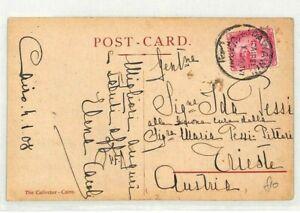 Egypte Le Caire Autriche Trieste Carte Postale 1908 {samwells Couvre -} Cg152-rs} Cg152fr-fr Afficher Le Titre D'origine
