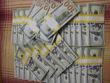 Realistic Prop Fake Money for Movies Video 2x Bundles of $10,000 total $20,000