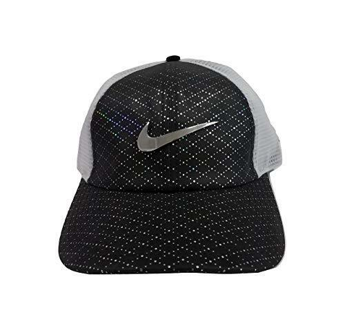 NIKE YOUTH AEROBILL LEGACY 91 PERFORATED MESH GOLF HAT WHITE BLACK  AQ3028-010 32f62962721c