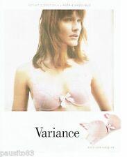 PUBLICITE ADVERTISING 116  2010  Variance  soutien gorge sous vetements