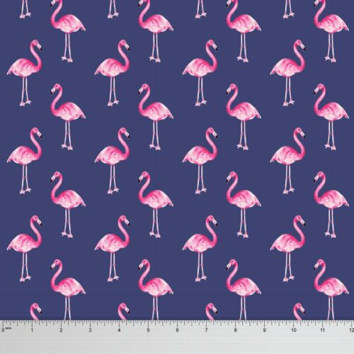 Soimoi Flamingo Georgette Fabric 44 Inches Wide Dressmaking Material By 1 Mtr