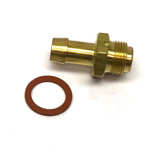 "Renegade Carburetor Fuel Inlet Fitting 62-29; Adapter 3//8/"" Hose Barb to 9//16/""-24"