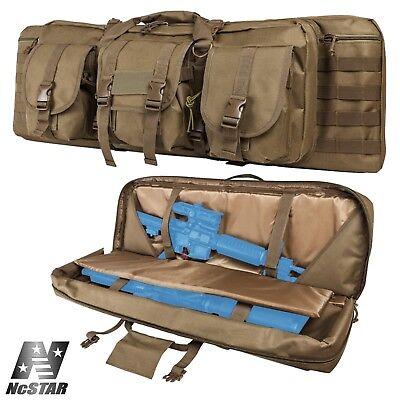 NcSTAR VISM Black MOLLE External Pocket Tactical Double Rifle Case CVDC2946B